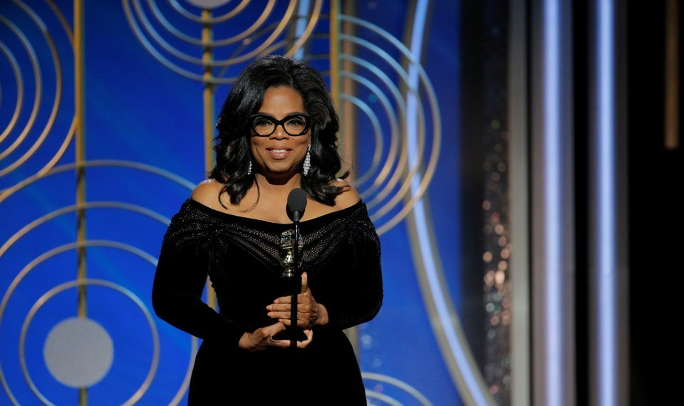Oprah Winfrey delivers a powerful speech honoring #TimesUp