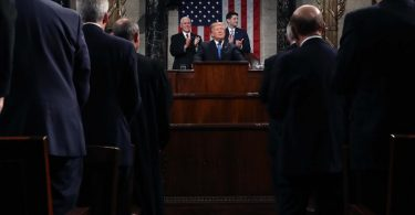 Trump reiterates his nationalistic message during his first State of the Union address