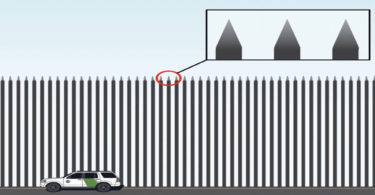 Image of Trump's border security wall